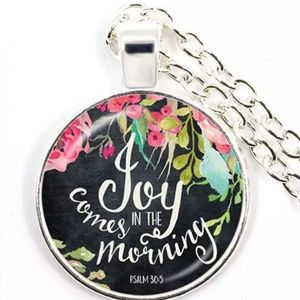 Necklace- New- Christian- Psalm 30:5- Joy Comes